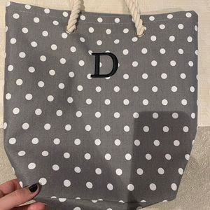 Brand new polka dotted canvas tote
